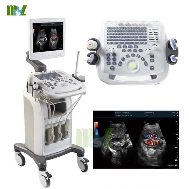 4D Color cardiac USG with trolly MSLCU16