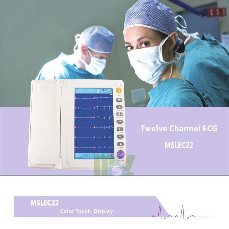 Portable twelve lead ecg MSLEC22 for sale