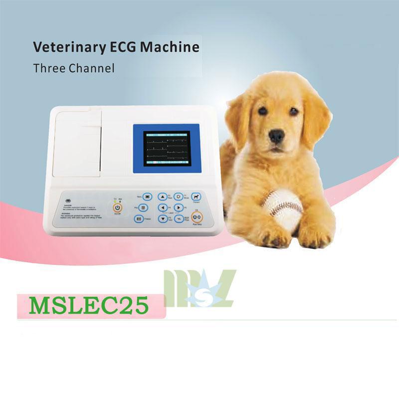 three channel veterinary ecg machine MSLEC25