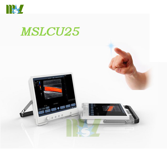 Protable touch screen color doppler ultrasound MSLCU25