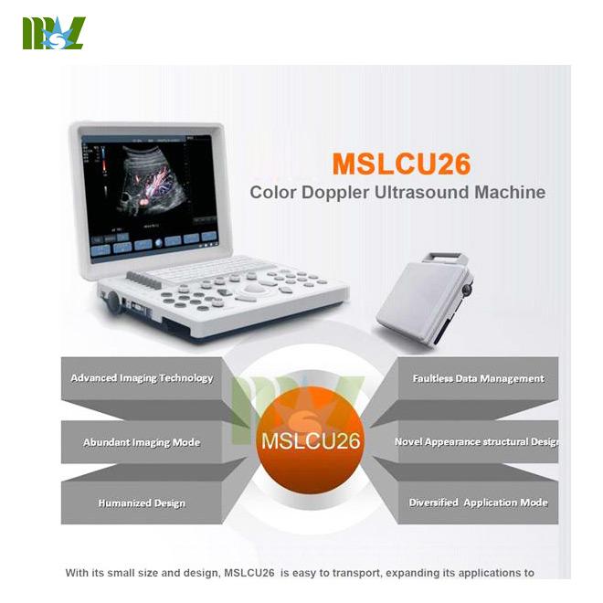 laptop Color Doppler Ultrasound Machine MSLCU26 Advanced Imaging Technology