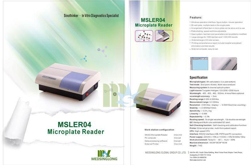 MSL Brand new elisa microplate reader MSLER04