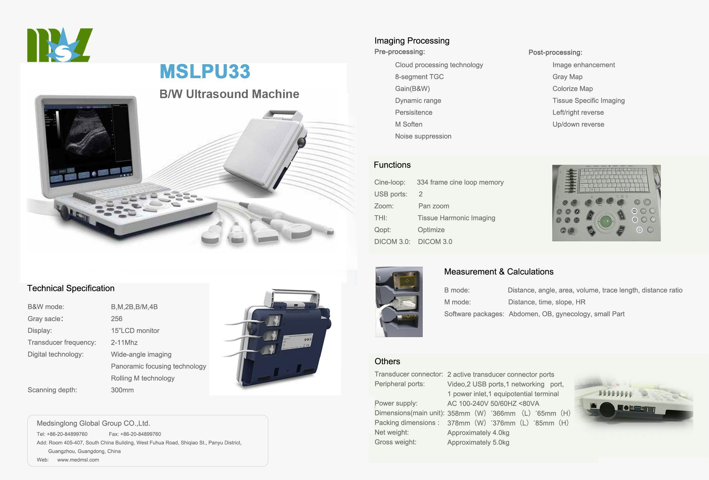 MSL ultrasound machine MSLPU33