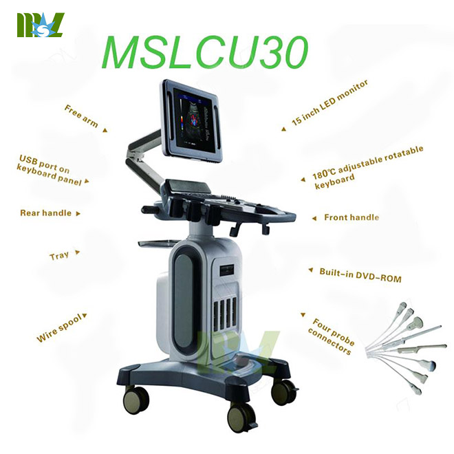 4D full digital trolly color doppler MSLCU30