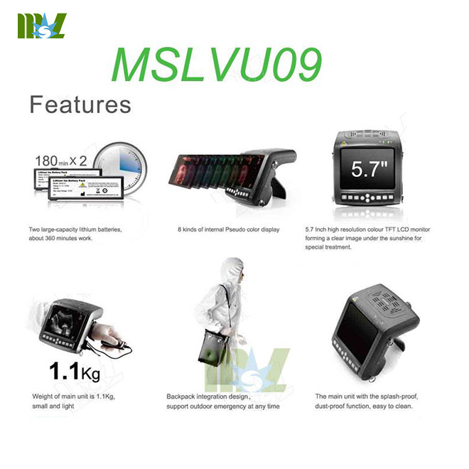 MSL medical veterinary ultrasound machine-MSLVU09