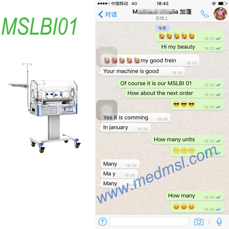 baby incubator price-MSLBI01 customer high praise