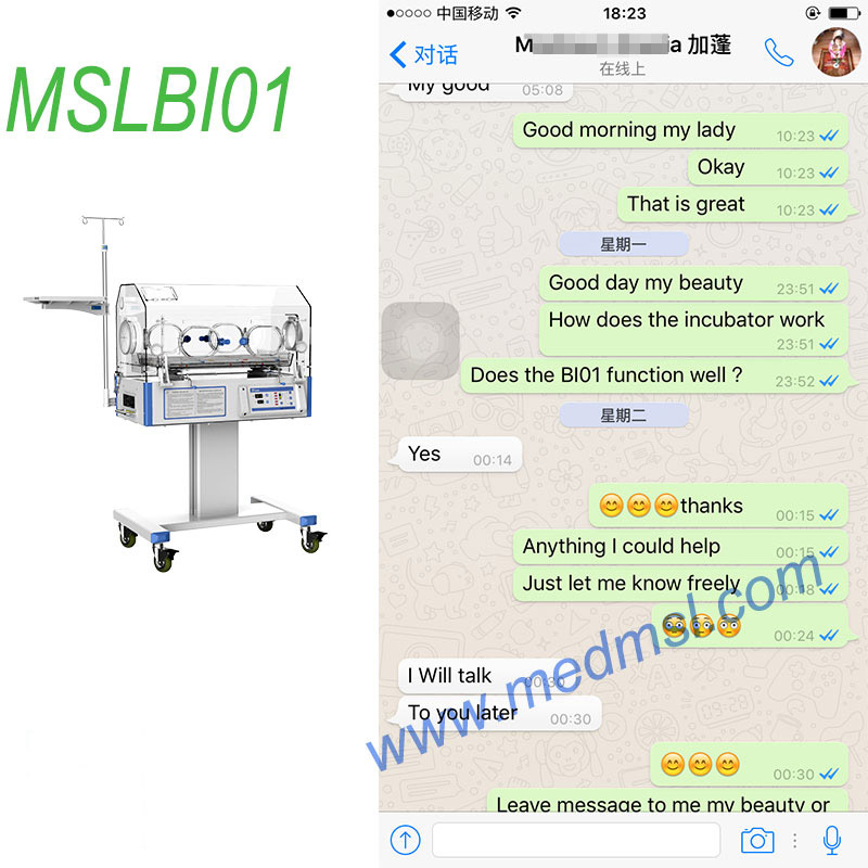 Hospital baby incubator price-MSLBI01 customer high praise