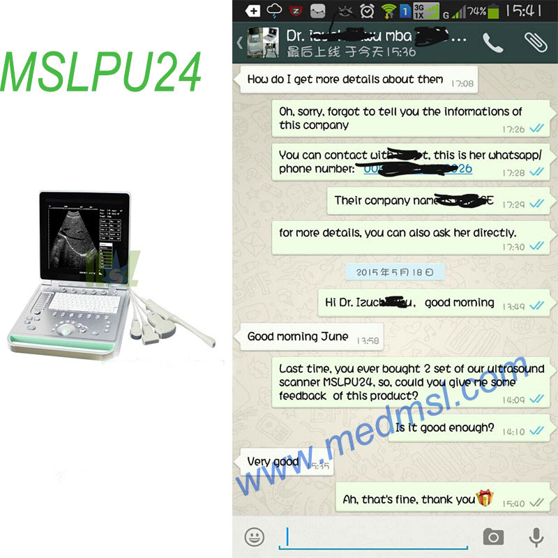 portable ultrasound scanner MSLPU24 Praises From Clients