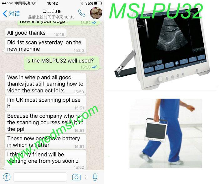 MSL Ultrasound machine MSLPU32 Praises From Clients