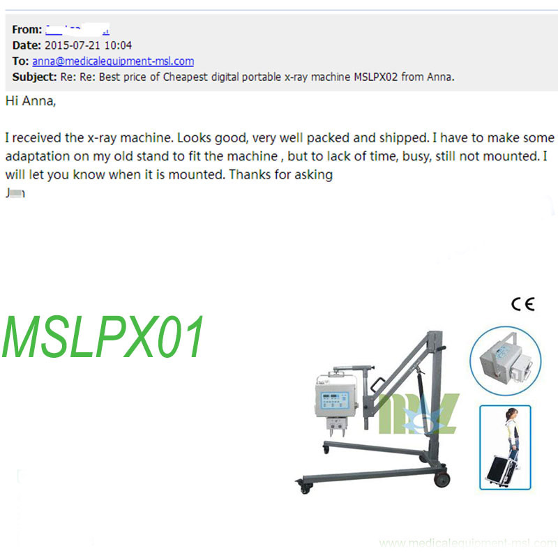 cheap X ray machine MSLPX01 Praises From Clients