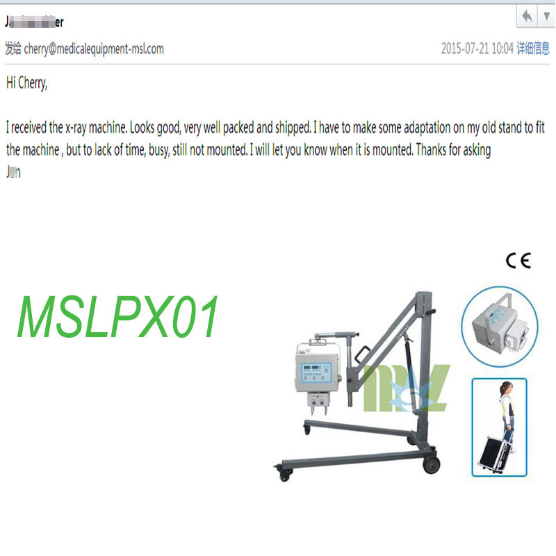MSL X ray machine MSLPX01 Praises From Clients