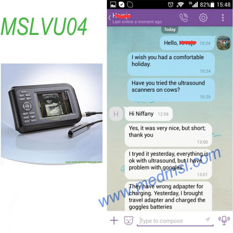 handheld Veterinary ultrasound MSLVU04 Praises From Clients