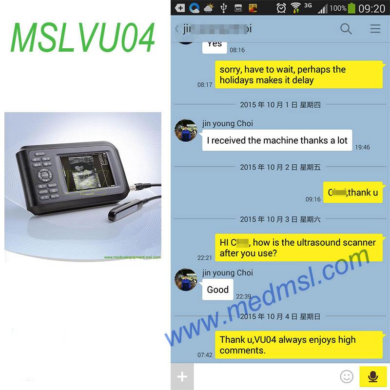 best Veterinary ultrasound MSLVU04 Praises From Clients