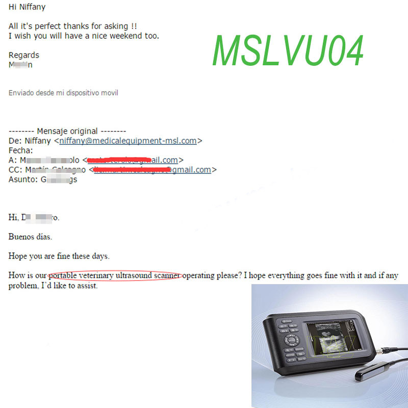cheap Veterinary ultrasound MSLVU04 Praises From Clients