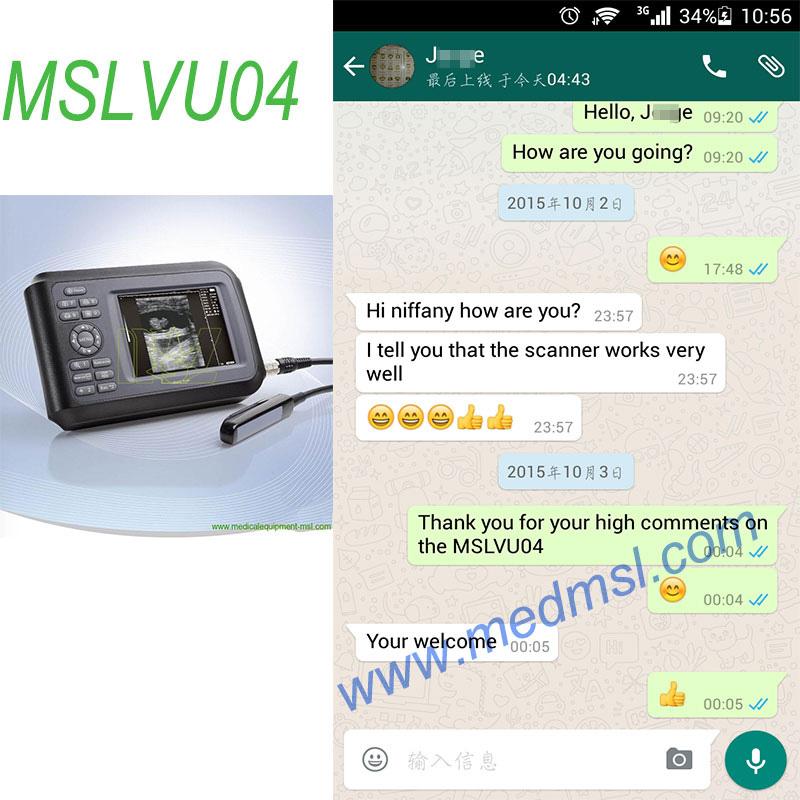 hot Veterinary ultrasound MSLVU04 Praises From Clients