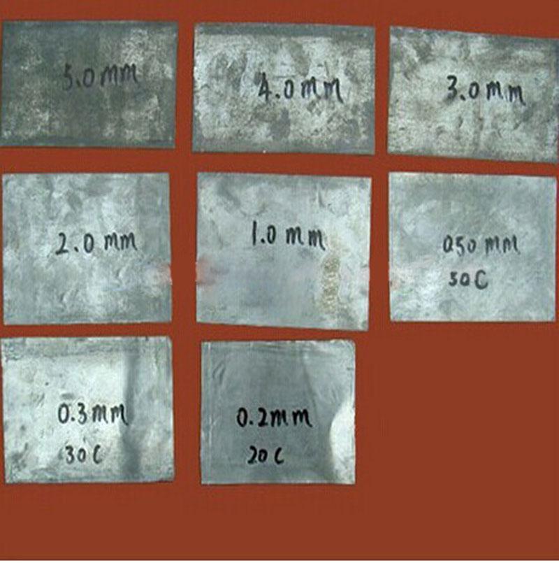 MSL lead foil sheet or rolled lead sheet