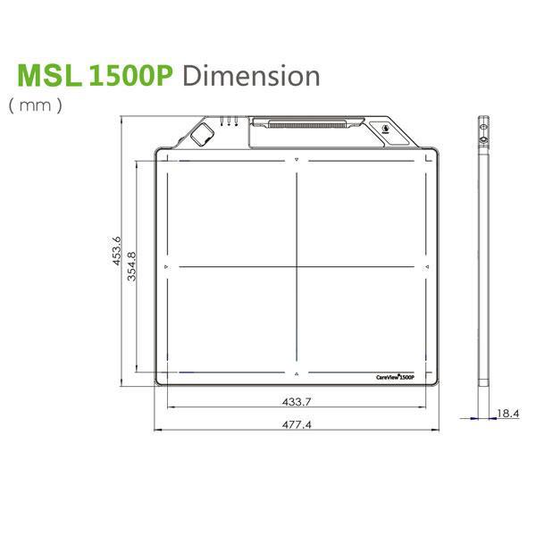 cheap Wireless radiation x ray detector MSL1500P