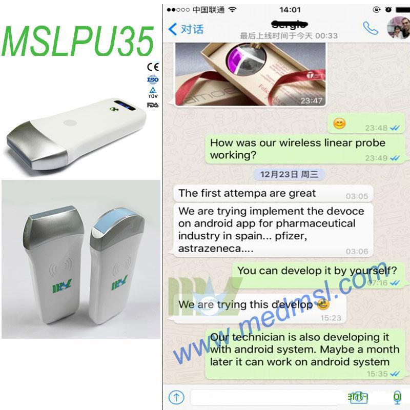 wireless ultrasound probe MSLPU35 With Wifi Connectivity