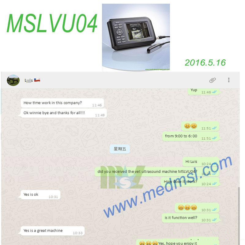 good Veterinary ultrasound MSLVU04