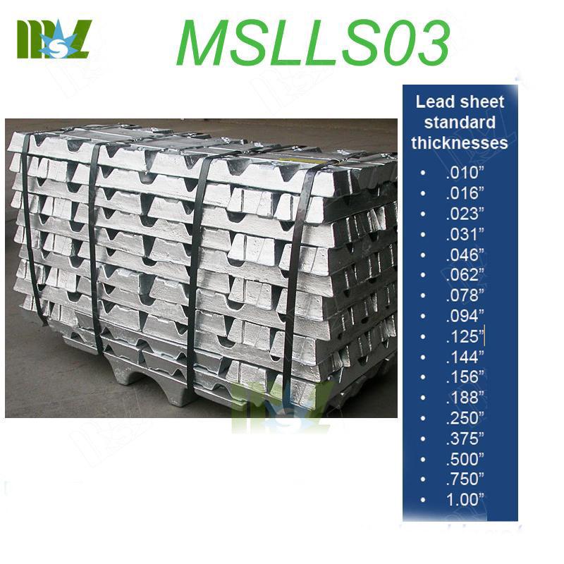 ingot lead MSLLS03