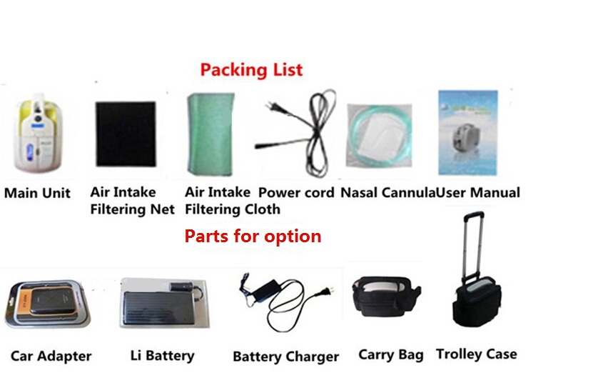 New design Oxygen concentrator easy to carry MSLJY01