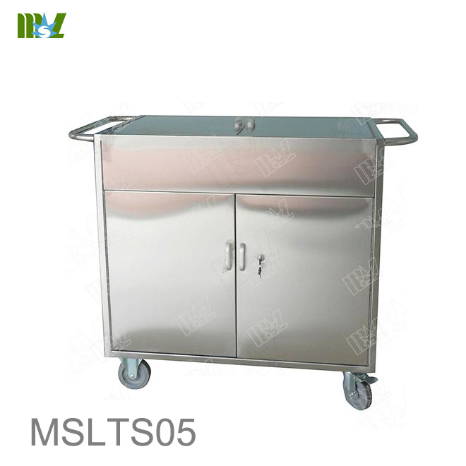 Stainless steel aseptic cart