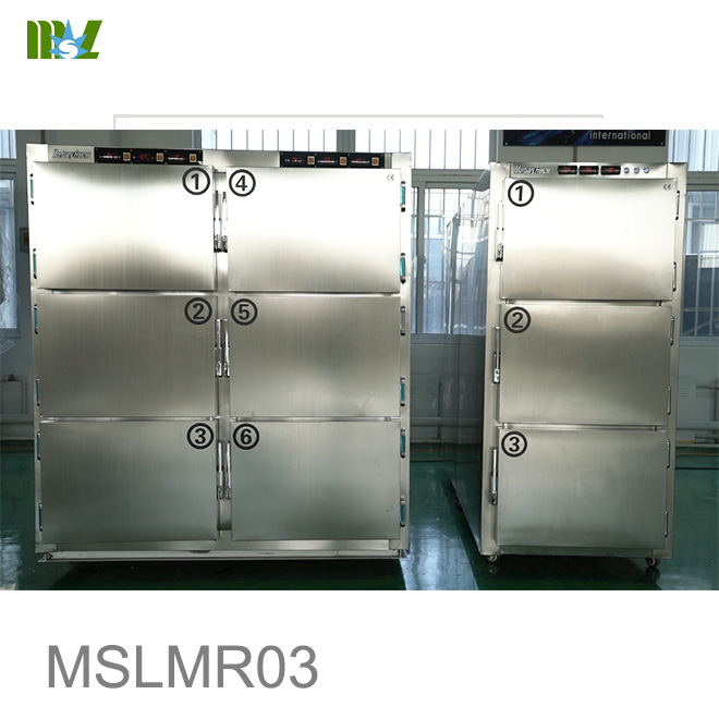 corpses cold storage room temperature adjustable morgue Mortuary Freezer equipment