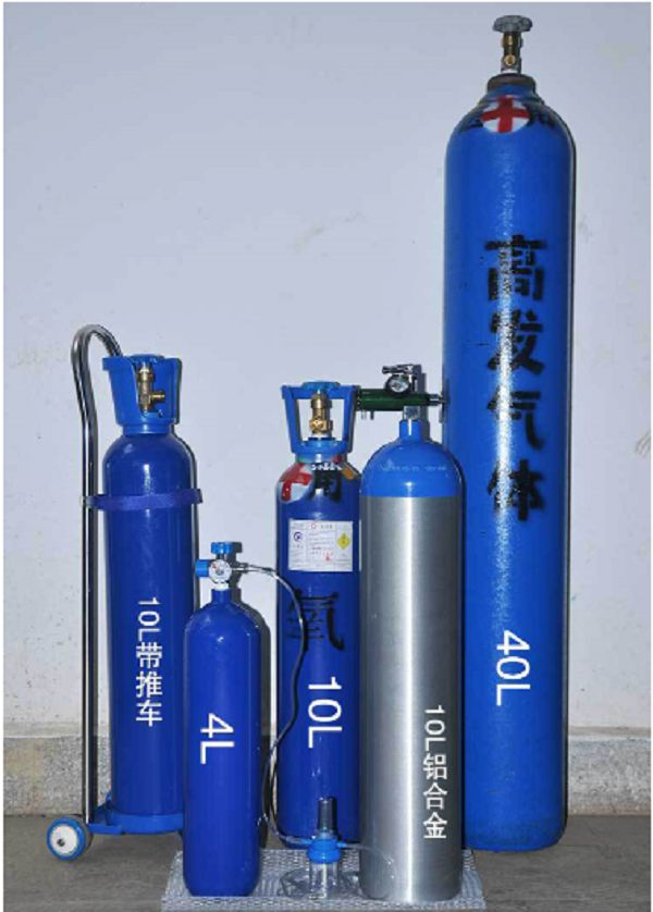 Portable oxygen cylinder sizes and capacities